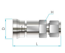 Q Series Hy-Lok Tube Body Connector Fittings